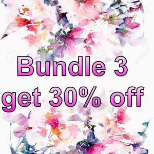 Sale starts NOW! Bundle +3 get 30% off!!!!!